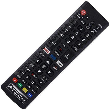 Controle Remoto Universal TV LCD / LED LG com Netflix e Amazon (Smart TV)