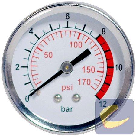 Manômetro 50 mm. 170Psi 1/4Bsp - Motocompressores - Chiaperini