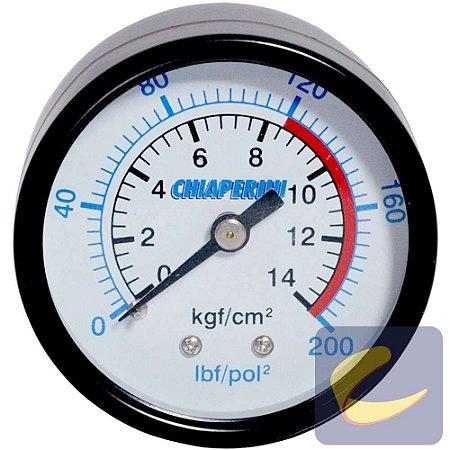 """Manômetro 200 Lbs 120/200 50 mm. 1/4"""" Npt Mupac - Compressores Baixa Pressão - Chiaperini"""