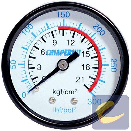 Manômetro 300 Lbs 140/300 50 Mm. 1/4 Npt Mupac Compressores De Ar Média / Alta Pressão Chiaperini