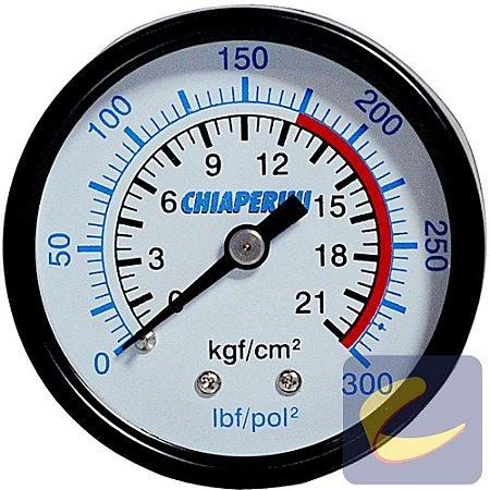"""Manômetro 300 Lbs 175/300 50 mm. 1/4"""" Npt Mupac - Compressores Alta Pressão - Chiaperini"""