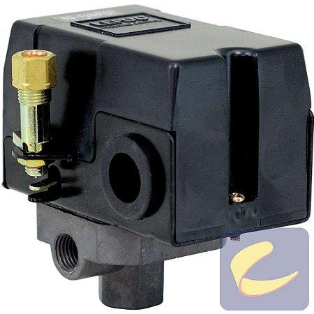Pressostato 080/120 C/V C/Ch C/M 4 Vias - Compressores Baixa Pressão - Chiaperini