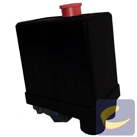 Pressostato 080/120 Sem Válvula Com Chave Botão Sem Manifold 1 Via Motocompressores Chiaperini