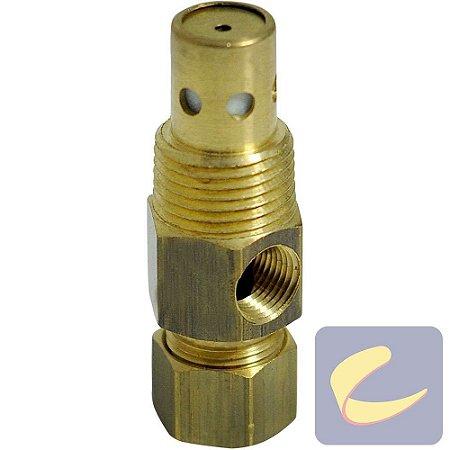 """Válvula retenção 3/8"""" x 3/8"""" - compressor de ar baixa pressão Chiaperini"""