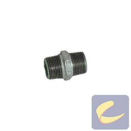 "Niple Reto Galv. 3/4"" Bsp - Compressores Alta Pressão - Chiaperini"