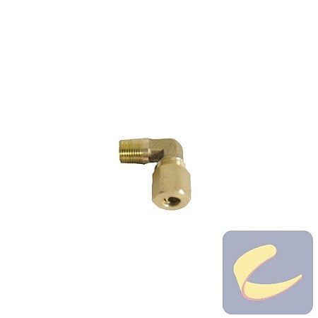 """Cotovelo M. Latão 1/2""""x1/2"""" - Compressores Alta Pressão - Chiaperini"""
