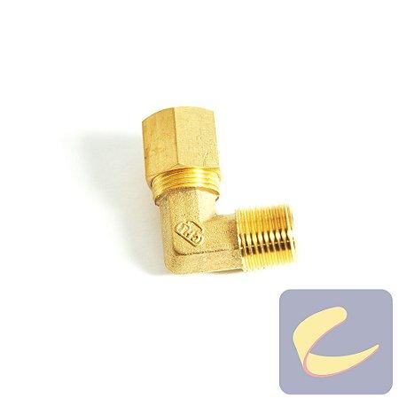 """Cotovelo M. Latão 1/2""""x3/8 - Compressores Baixa Pressão - Chiaperini"""