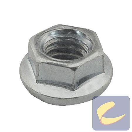 Porca Sext. Flange E Ranhur Ma 8 Zinco - Motocompressores - Chiaperini