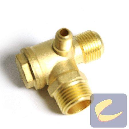 "Válvula Retenção 1/2""Nptx3/4""UnfxAliv.1/8""Bsp - Compressores Odonto - Chiaperini"