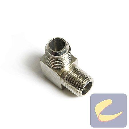 """Cotovelo 1/4"""" NptxMa14 Zinco - Compressores Odonto - Chiaperini"""