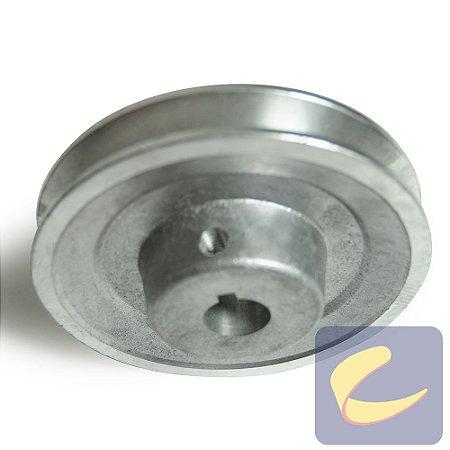 Polia Alumínio 115 mm. 1A F 19.05 Furo Cônico (Motor Mono) - Compressores Média Pressão - Chiaperini