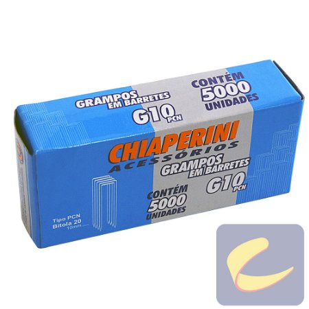 Grampo em Barretes PCN 10mm G-10PCN 5000 unidades Grampeadores Chiaperini
