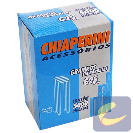 Grampo Em Barretes Pcw 25Mm G-25Pcw 5000 Unidades Grampeadores - Chiaperini