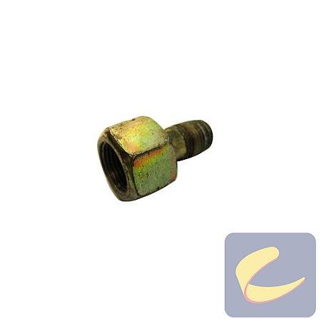 """Niple Com Porca 1/4""""x3/8 - Motocompressores - Chiaperini"""