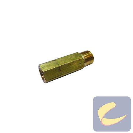 """Prolongador Latão 3/8x1/4"""" - Compressores Baixa Pressão - Chiaperini"""