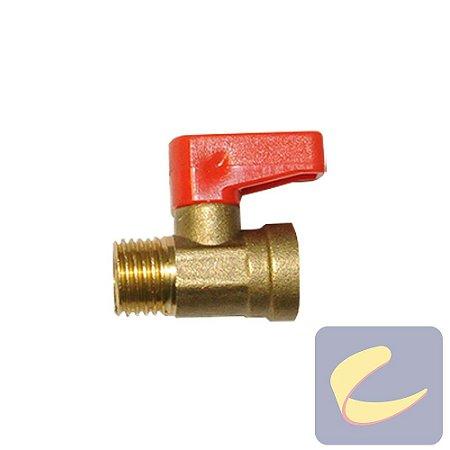 """Válvula Purgadora 1/4""""Npt Esférica - Motocompressores - Compressores Baixa/ Média/ Alta Pressão - Chiaperini"""
