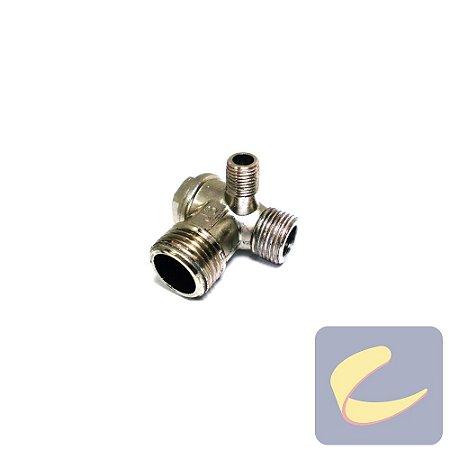 Válvula Retenção 1/2''BSP 3/8''BSP X 1/8''NPT - Motocompressores - Chiaperini