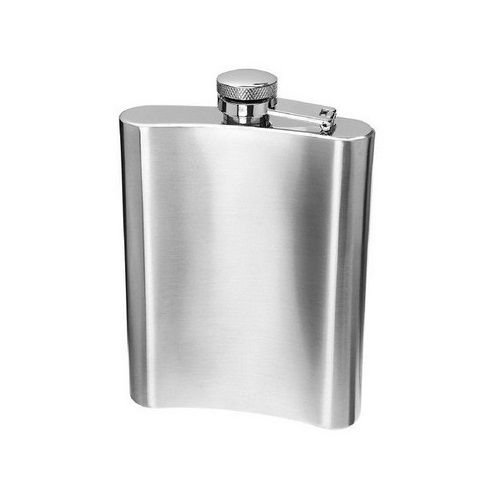 Cantil de Bolso Porta Bebidas de Aço Inox - 220ML
