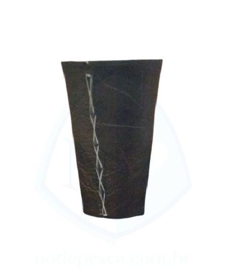 Cuia copo de Tereré de alumínio revestida com Corino Marrom com Costura Aparente - 150 ML