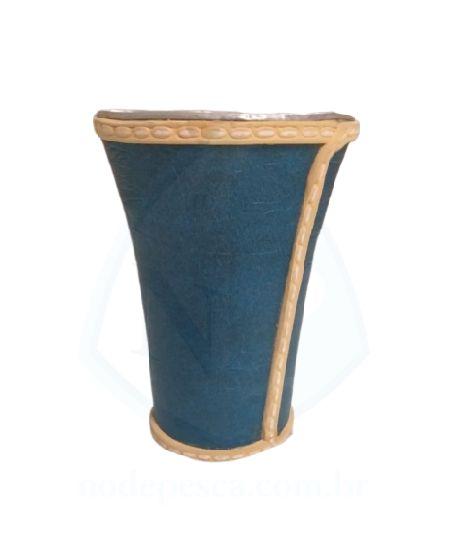 Cuia copo de Tereré de alumínio revestida com Corino Azul - 150 ML