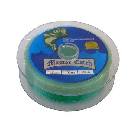 Linha Monofilamento com 100m Verde - Master Catch