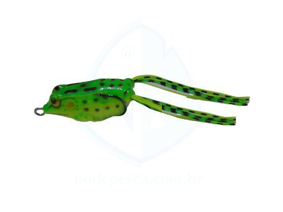 Isca Frog Anti Enrosco Preto Verde e Amarelo 4,5cm - 09 gramas