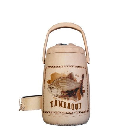 Garrafa Térmica plástico revestida em couro Tambaqui 2,5 litros - Toro Rojo