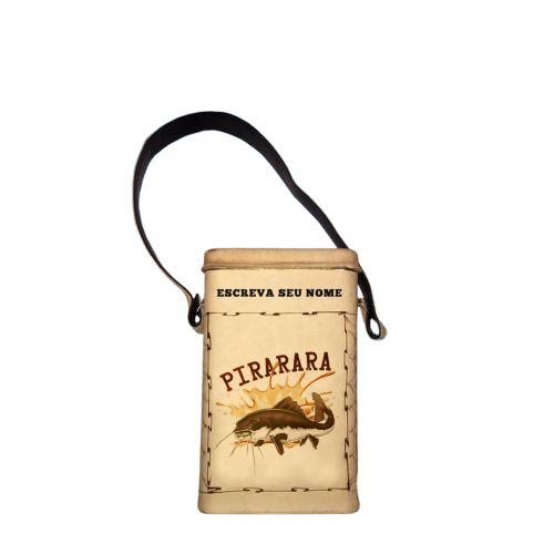 Porta Erva revestida em couro Pirarara 500g -  Toro Rojo