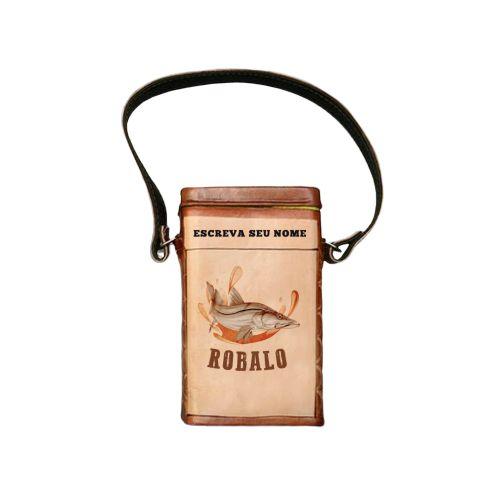 Porta Erva revestida em couro Robalo 500g -  Toro Rojo