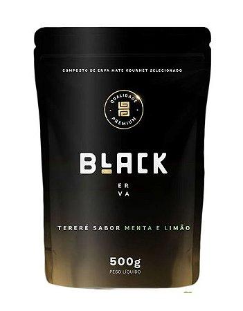 Erva para Tereré Gourmet Premium sabor Menta e Limão 500 gramas - Black Erva