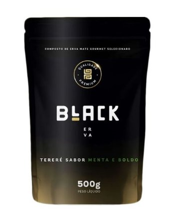 Erva para Tereré Gourmet Premium sabor Menta e Boldo 500 gramas - Black Erva