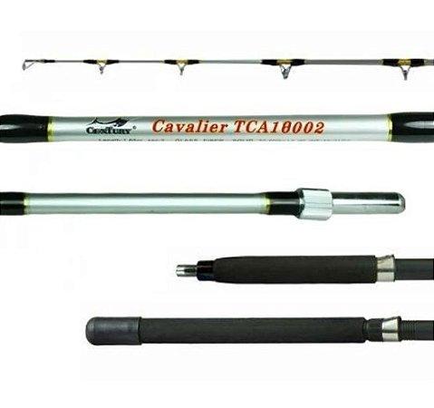 Vara Century Cavalier TCA18002 - 30-60lbs Carretilha / Molinete - 1,80m - Preta e Prata