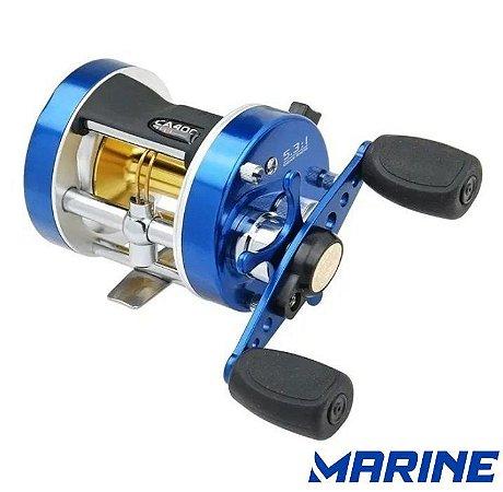 Carretilha Azul Caster 5.3:1 200 - 2 + 1 Rolamentos - Marine Sports