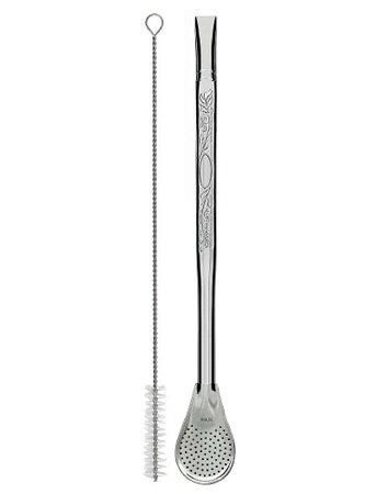 Bomba Tradicional Estampada Aço Inox Rosqueável - 21cm
