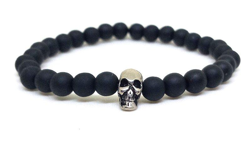 Pulseira skull black