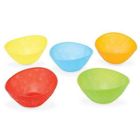 Tigelas Coloridas - Munchkin - Embalagem com 5 unidades