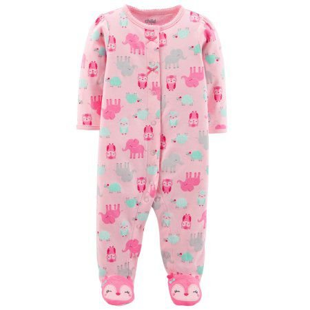 Pijama Macacão Coruja Rosa - Menina - Carter's