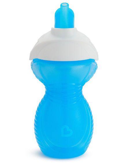 Copo com Canudo Click Lock - Azul - Munchkin