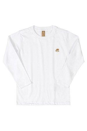 Camiseta Manga Longa - Branca - Up Baby