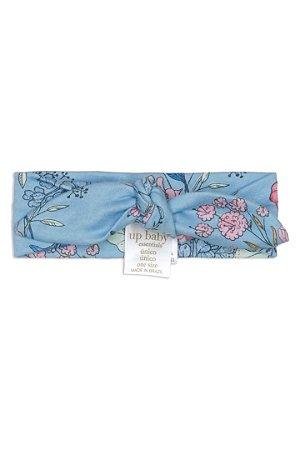 Faixa para Cabelo em Suedine - Floral Azul - Up Baby
