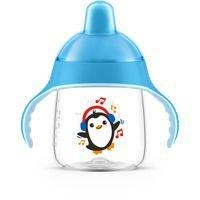 Copo Anti Vazamento Pinguim 260ml - Azul - Avent Philips