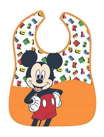 Babador Impermeável Mickey Letras - Girotondo Baby