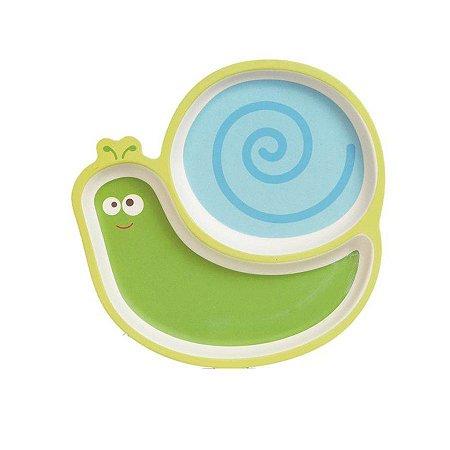 Prato com Divisórias - Caracol - Linha Eco - Girotondo Baby
