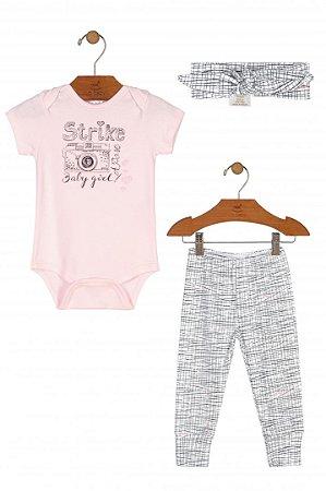Kit 3 Peças Verão - Menina - Up Baby