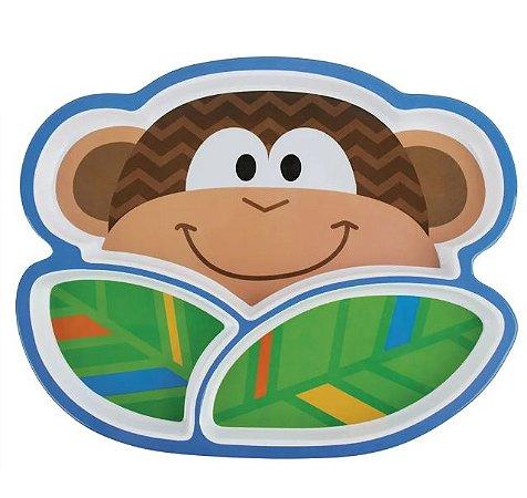 Prato Infatil com divisórias - Macaco - Stephen Joseph