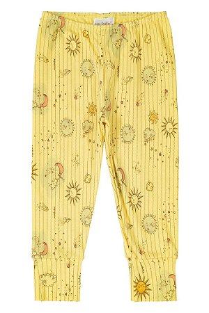 Calça em Suedine - Amarelo Sol - Up Baby