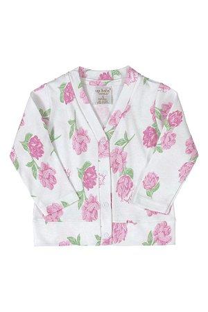 Casaco em Suedine - Floral - Up Baby