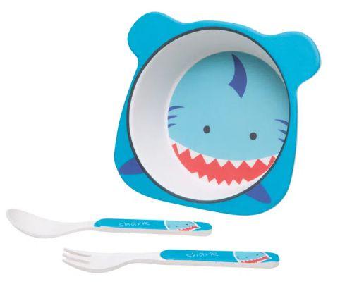 Kit Alimentação Tubarão - 3 Peças - Girotondo Baby