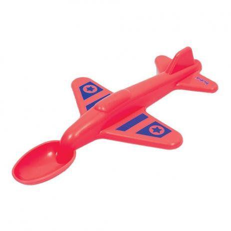 Colher Avião - Vermelha - Buba
