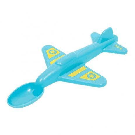 Colher Avião - Azul - Buba